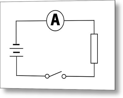 Measuring Electric Current Metal Print by Sheila Terry