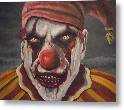 Metal Print featuring the painting Meat Clown by James Guentner