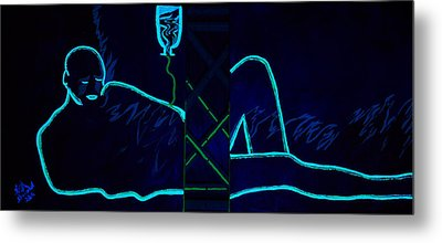 Meausre Of A Man Black Light View Metal Print