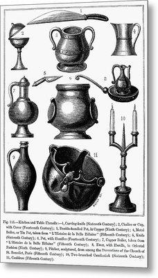 Medieval Utensils Metal Print by Granger