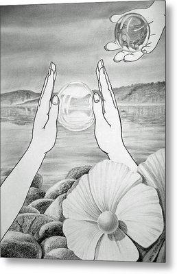 Meditation  Metal Print by Irina Sztukowski