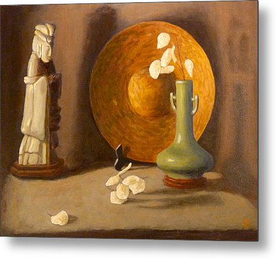 Metal Print featuring the painting Meditation by Joe Bergholm
