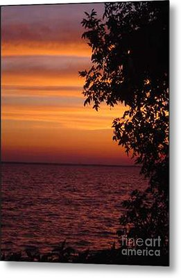 Meditation Sunset Metal Print