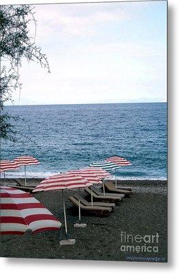 Mediterranean Beach Time  Metal Print by Anthony Novembre