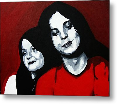 Meg And Jack Metal Print