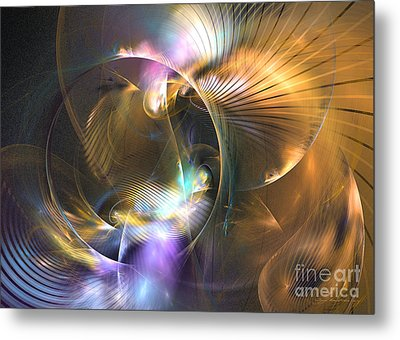 Mellow - Abstract Digital Art Metal Print by Sipo Liimatainen