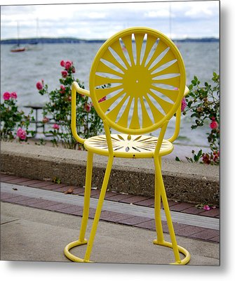 Mellow Yellow Metal Print by Linda Mishler