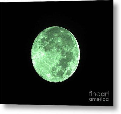Melon Moon Metal Print