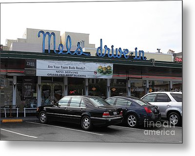 Mel's Drive-in Diner In San Francisco - 5d18012 Metal Print by Wingsdomain Art and Photography