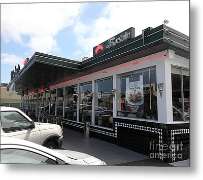Mel's Drive-in Diner In San Francisco - 5d18041 Metal Print by Wingsdomain Art and Photography