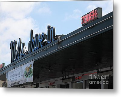 Mel's Drive-in Diner In San Francisco - 5d18042 Metal Print by Wingsdomain Art and Photography