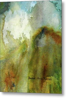 Metal Print featuring the painting Melting Mountain by Anna Ruzsan