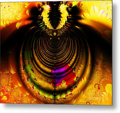 Melting Pot . Gold . Horizontal Cut . S8a.s11 Metal Print by Wingsdomain Art and Photography