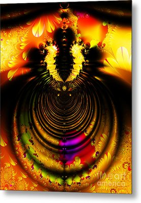 Melting Pot . Gold . S8a.s11 Metal Print by Wingsdomain Art and Photography