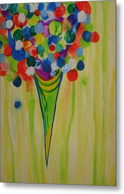 Metal Print featuring the painting Melting Shave Ice by Erika Swartzkopf
