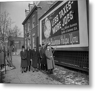 Members Of The National Chamber Metal Print by Everett
