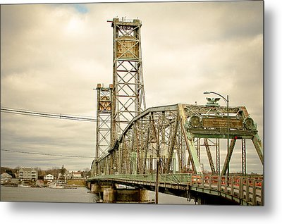 Memorial Bridge Portsmouth Nh Metal Print by Debbra Obertanec