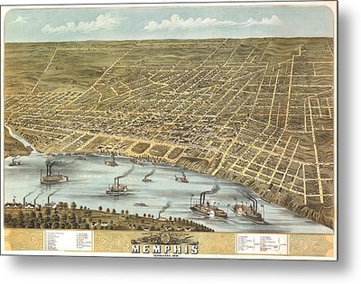 Memphis Tennessee 1870 Metal Print by Donna Leach
