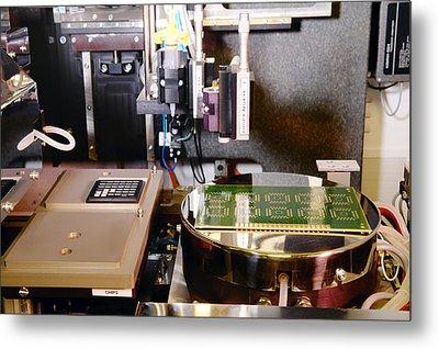 Mems Production, Flip Chip Bonding Metal Print by Colin Cuthbert