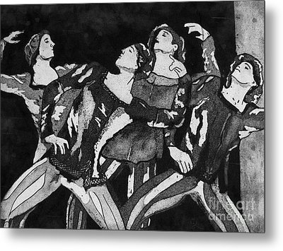 Men In Tights Metal Print by Colleen Kammerer