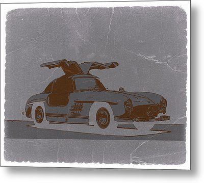 Mercedes Benz 300 Metal Print by Naxart Studio