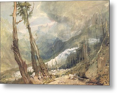 Mere De Glace - In The Valley Of Chamouni Metal Print by Joseph Mallord William Turner