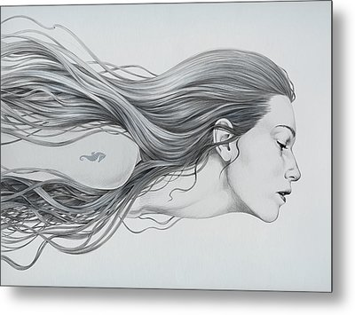 Mermaid Metal Print by Diego Fernandez