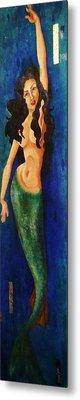 Mermaid Reach Metal Print by Abraham Gonzales