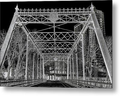 Merriam Street Bridge Metal Print by Bill Tiepelman