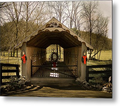 Merry Christmas From Tennessee Metal Print by Trish Tritz