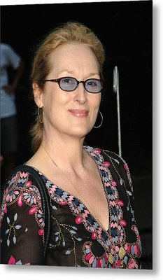 Meryl Streep At Arrivals For The 2006 Metal Print by Everett