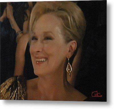 Meryl Streep Portrait  Metal Print