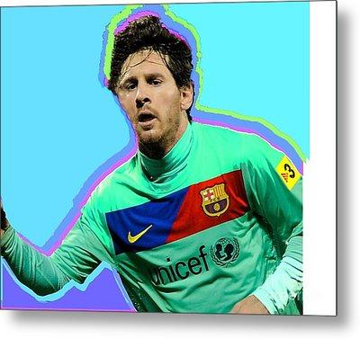 Messi Nixo Metal Print by Nicholas Nixo