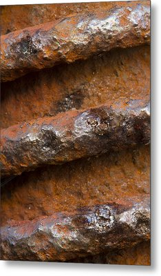 Metal Print featuring the photograph Metal Coil by Carrie Cranwill