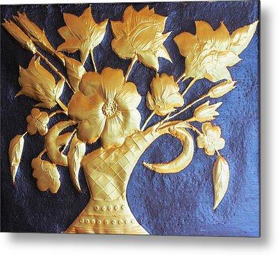 Metal Flowers Metal Print by Rejeena Niaz