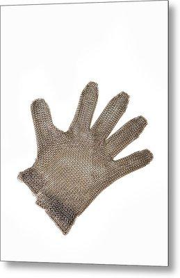 Metal Mesh Glove Metal Print by Cristina Pedrazzini