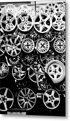 Metal Wheels Metal Print by Ion-Bogdan DUMITRESCU