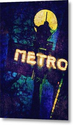 Metro Metal Print by Skip Nall
