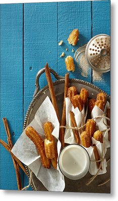 Mexican Churros Metal Print by Lew Robertson