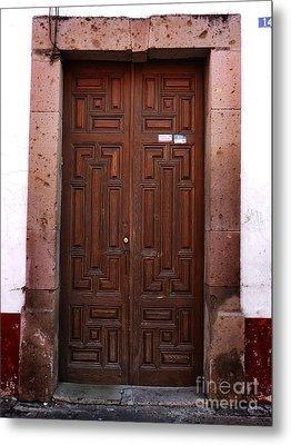 Mexican Door 45 Metal Print by Xueling Zou