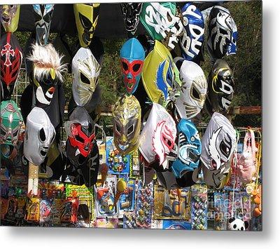 Mexican Masks Metal Print by Stav Stavit Zagron