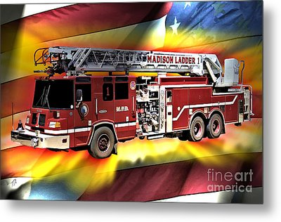 Mfd Ladder Co 1 Metal Print by Tommy Anderson