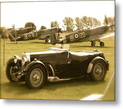 Metal Print featuring the photograph Mg And Spitfires by John Colley