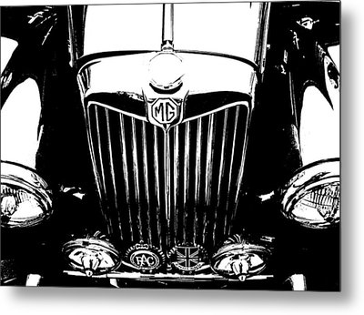 Mg Grill Black And White Metal Print