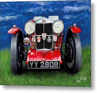 Mg Ta Sports Car Metal Print by David Kyte