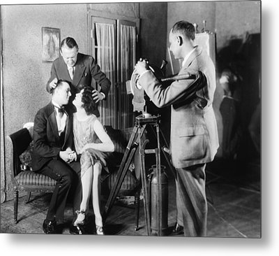 Mgm Director Edmund Goulding Back Left Metal Print by Everett