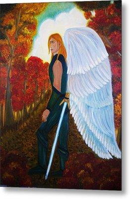 Michael - Michael Archangel Series By Yesi Casanova Metal Print