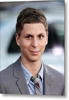 Michael Cera At Arrivals For Scott Metal Print by Everett