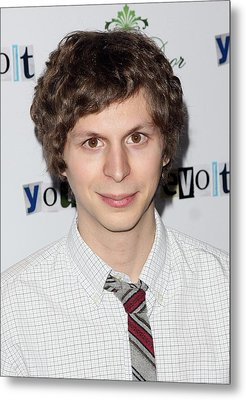 Michael Cera At Arrivals For Youth In Metal Print by Everett