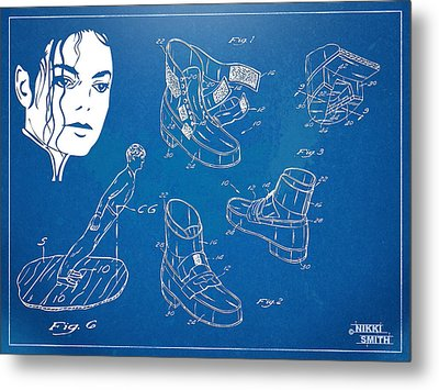 Michael Jackson Anti-gravity Shoe Patent Artwork Metal Print